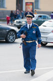 Russian traffic inspector Stock Photography