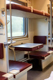 Russian Train Interior and Seating Stock Images