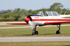 Russian trainer airplane Royalty Free Stock Photography
