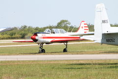 Russian trainer airplane Royalty Free Stock Photo