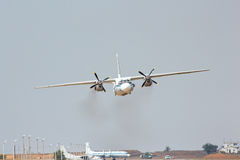 Russian transport aircraft AN-26 is landing Stock Photography