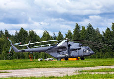 Russian transport helicopter Royalty Free Stock Photo