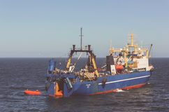 Russian trawler Royalty Free Stock Photography