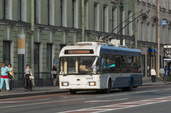 Russian trolleybus royalty free stock photo