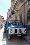 Russian truck on the street, Cuba, Havana. Russian truck on the street Royalty Free Stock Image