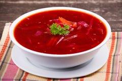 Russian and ukraine cuisine - borsch Stock Photography