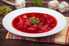 Russian and ukraine cuisine - borsch Royalty Free Stock Images