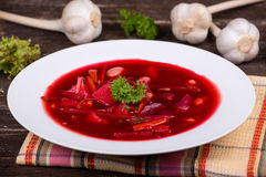 Russian and ukraine cuisine - borsch Royalty Free Stock Photography