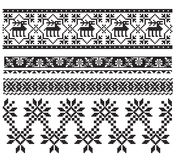 Russian ukrainian black embroider Stock Images