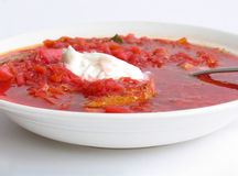 Russian - Ukrainian borsch royalty free stock photo
