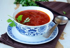 Russian ukrainian borscht soup Stock Photos
