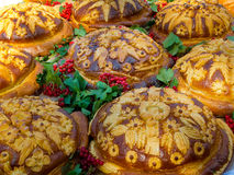 Russian or Ukrainian festive bread Stock Image