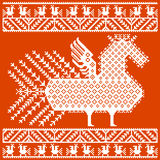 Russian and ukrainian folk embroidery, patterns. Vector illustration. Royalty Free Stock Images