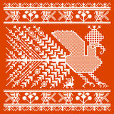 Russian and ukrainian folk embroidery, patterns Royalty Free Stock Photo