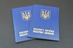 Russian and Ukrainian passport Stock Photo