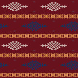 Russian, ukrainian and scandinavian national knit pattern, seamless vector illustration Stock Image