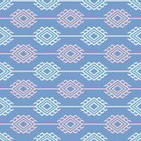 Russian, ukrainian and scandinavian national knit styled pattern, pastel colors Stock Photo