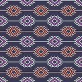 Russian, ukrainian and scandinavian national knit styled pattern, pastel colors Royalty Free Stock Images