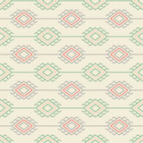 Russian, ukrainian and scandinavian national knit styled pattern, pastel colors Royalty Free Stock Image