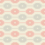 Russian, ukrainian and scandinavian national styled pattern, pastel colors Royalty Free Stock Photo