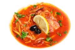 Russian and Ukrainian soup solyanka. AKA saltwort or barilla Royalty Free Stock Image