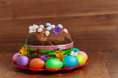 Russian and Ukrainian Traditional Easter Cak Royalty Free Stock Image