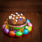Russian and Ukrainian Traditional Easter Cak Stock Photo
