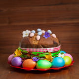 Russian and Ukrainian Traditional Easter Cak Royalty Free Stock Photography