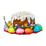 Russian and Ukrainian Traditional Easter Cake Stock Images