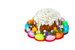 Russian and Ukrainian Traditional Easter Cake Stock Image