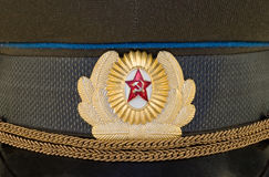 Russian uniform cap Royalty Free Stock Images