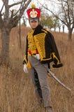 Russian uniform of cavalry. stock photos