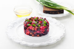 Russian vegetable salad with beetroot vinaigrette Royalty Free Stock Photo