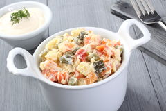 Russian vegetables salad Royalty Free Stock Photography