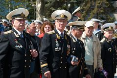 Russian veteran's parade May 9, 2009 Stock Photography