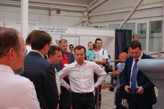 Russian vice-premier Arkady Dvorkovich at GIDROAVIASALON 2012 Royalty Free Stock Photos