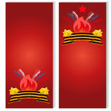 Russian Victory day on 9 may. Russian Victory Day on 9 may, Templates for flyers on may 9, the banner of the victory day over fascism Royalty Free Stock Image
