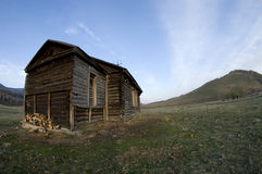 Russian village. Abandoned Russian village in Altai Stock Photography