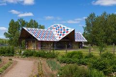 Russian Village attractions in Verkhniye Mandrogi Stock Photo