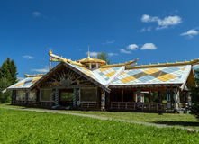 Russian Village attractions in Verkhniye Mandrogi Royalty Free Stock Image