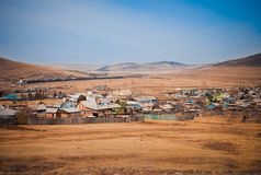 Russian village in Chita region Royalty Free Stock Images