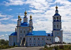 Russian village church Stock Photo