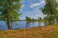 Russian Village Countryside view Royalty Free Stock Image