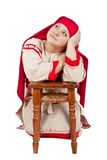 Russian village girl Royalty Free Stock Images
