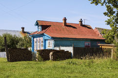 Russian village house Stock Photography