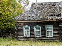 Russian village house made of wood. Stock Photography