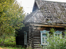 Russian village house made of wood. Stock Images
