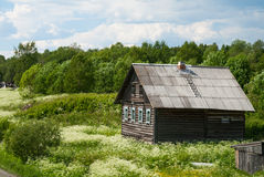 Russian village house Royalty Free Stock Image