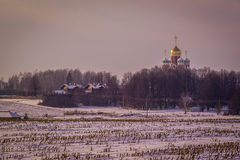 Russian village in the Kaluga region. Royalty Free Stock Images
