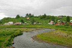Russian village of Ninilchik Stock Images